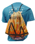 Poly drawstring backpack with sublimated graphics and mailer pouch